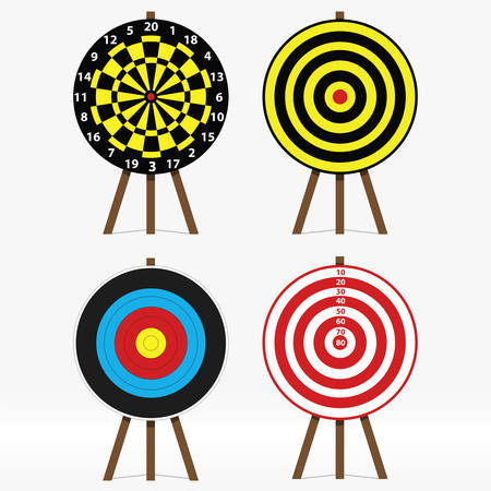 vector set of four different targets