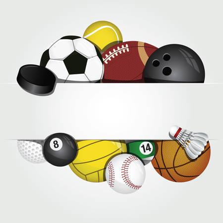 ensemble de vecteur de ballons de sport