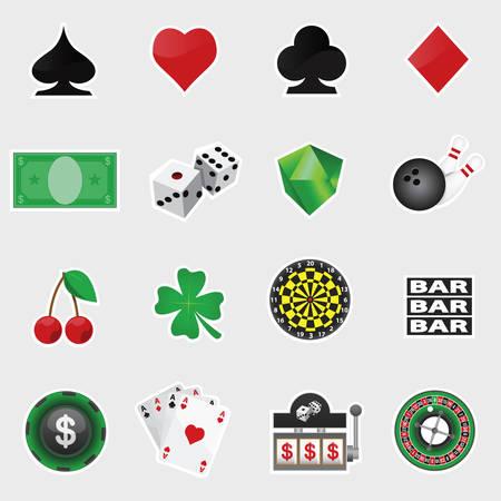 vector set d'icônes de casino Illustration