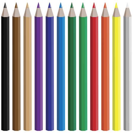 ensemble de vecteur de crayons de couleur