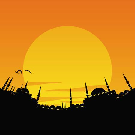 illustration vectorielle du paysage urbain d'Istanbul