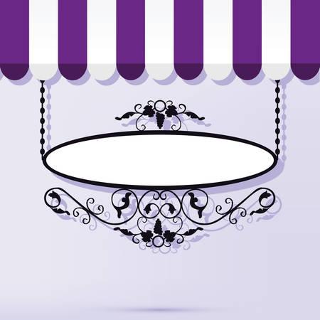 Vector illustration d'un panneau millésime