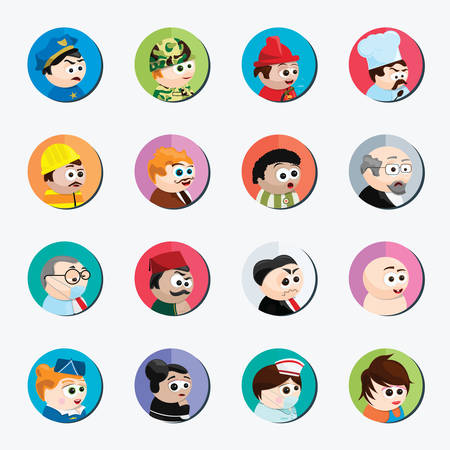 creation kit: cartoon characters of different professions