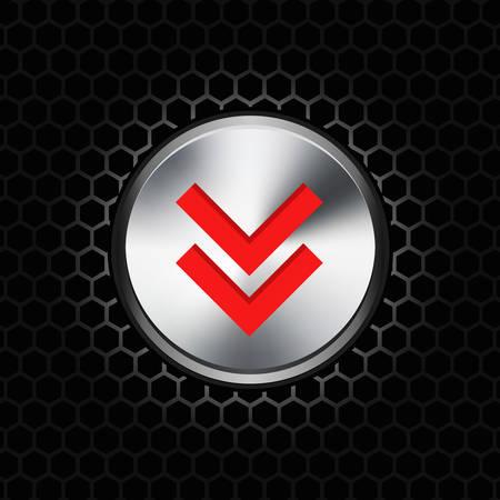 illustration de bouton de téléchargement