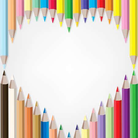 ensemble de crayons de couleur