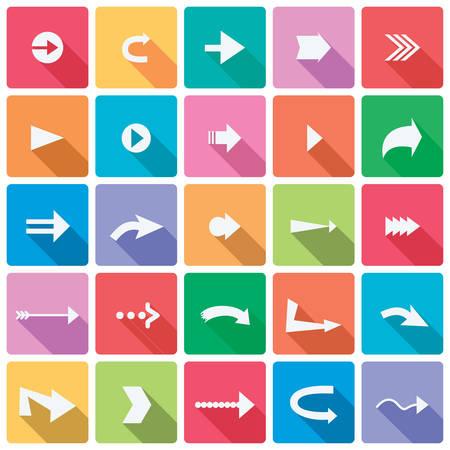 ensemble d'icônes fléchées Illustration