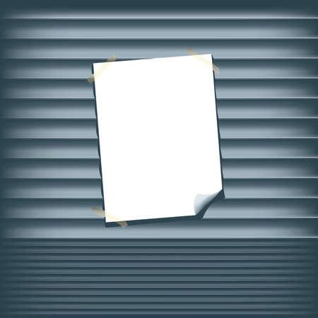 Affiche Blank sur un obturateur Roll Up
