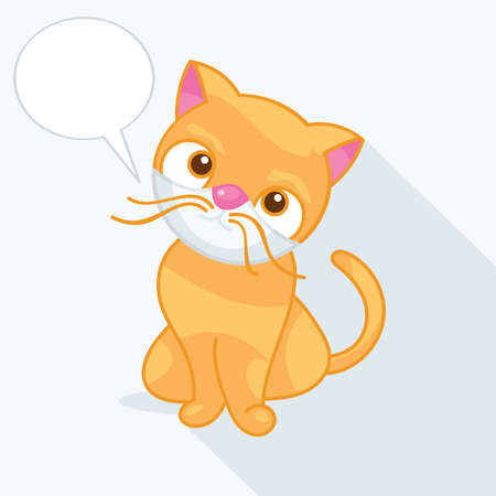 wiskers: vector illustration of a cute cat Illustration