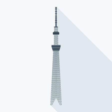 illustration vectorielle de la Tokyo Sky Tree