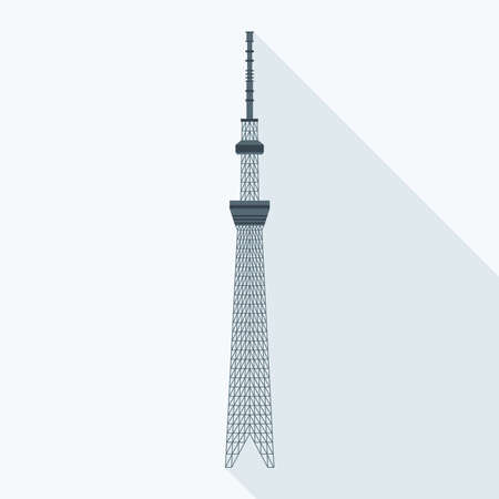 sumida ward: vector illustration of the Tokyo Sky Tree