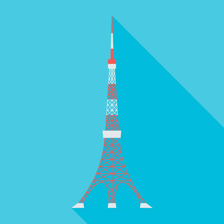 vector illustration of the Tokyo Tower Ilustração