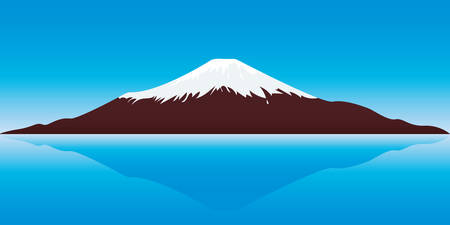 vector illustration of the Fuji Mountain - Japan