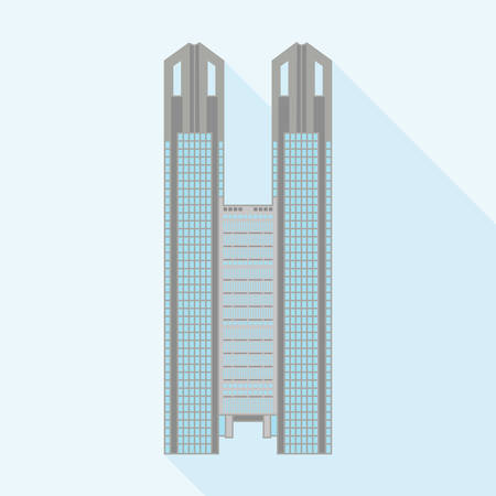 metropolitan: vector illustration of the Tokyo Metropolitan Government Building