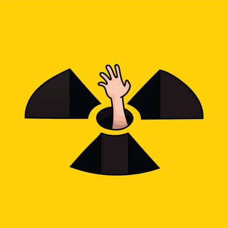 illustration vectorielle pour les campagnes anti-nucléaires Illustration