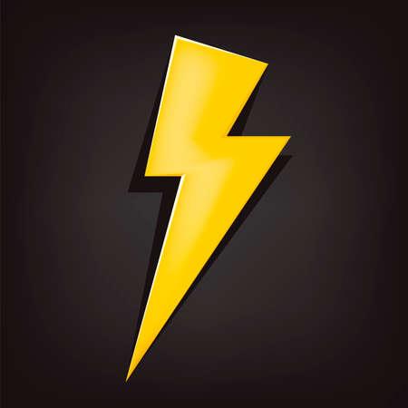 powerful: vector illustration of a lighting bolt