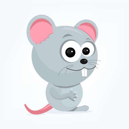 bande dessinée d'une souris mignonne