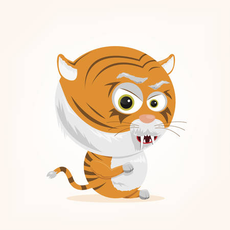 bande dessinée d'un tigre mignon Illustration