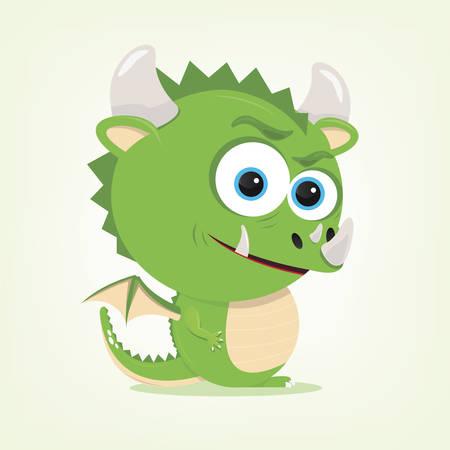 bande dessinée d'un dragon mignon Illustration