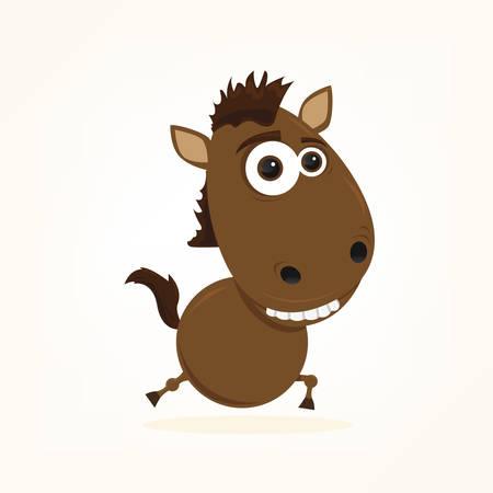 bande dessinée d'un cheval mignon Illustration