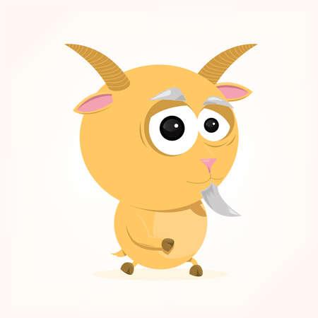 bande dessinée d'une chèvre mignonne