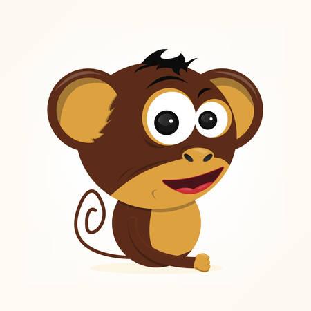 bande dessinée d'un singe mignon