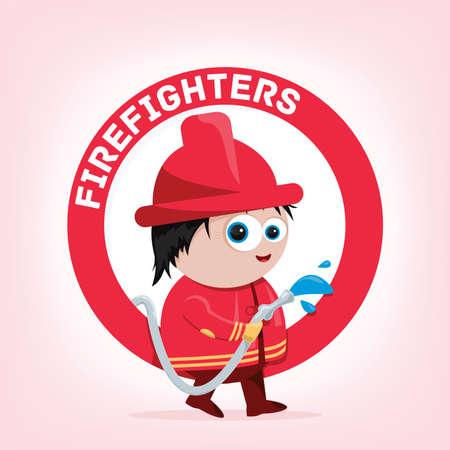 bande dessinée d'un pompier Illustration