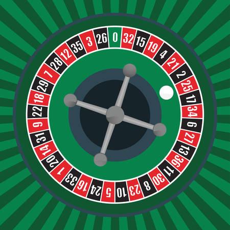 illustration vectorielle d'une roue de roulette