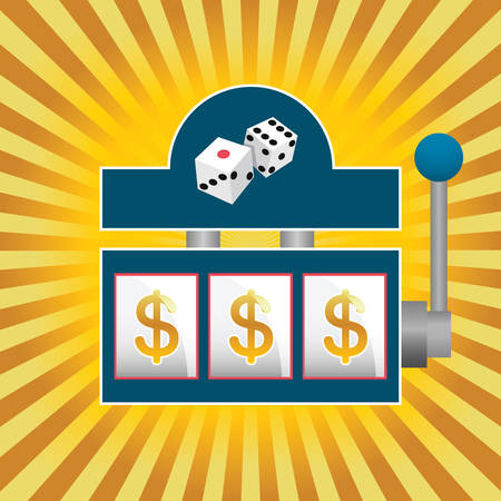 spin: vector illustration of a slot machine