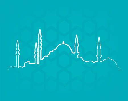 vecteur paysage urbain d'Istanbul Illustration