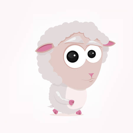 bande dessinée d'un mouton mignon