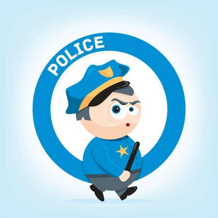 policia caricatura: ejemplo lindo del dibujo animado de un polic�a