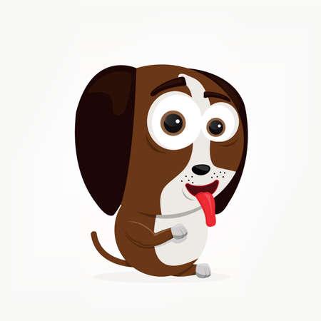 bande dessinée d'un chien mignon