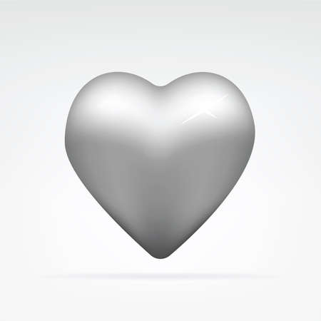 vector illustration of a metal heart