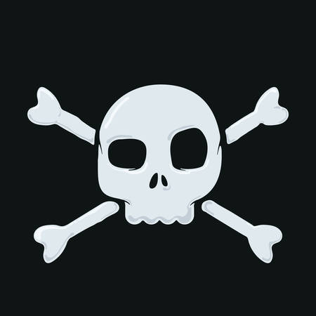 vector illustration of a skull and crossbones