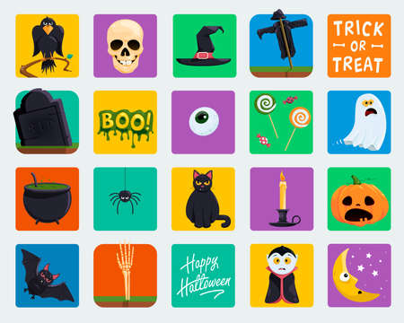 vector collection of halloween icons