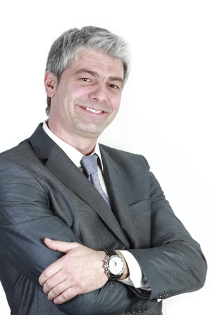Portrait of a handsome businessman smiling