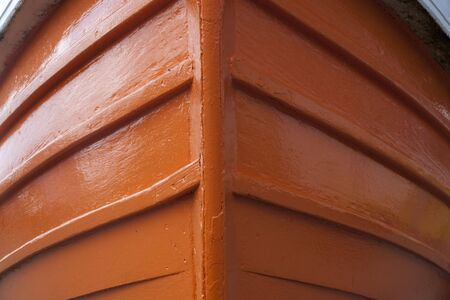 prow: a close up of the prow of a brightly painted traditional small fishing boat
