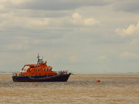 yorkshire and humber: humber lifeboat moored off spurn head