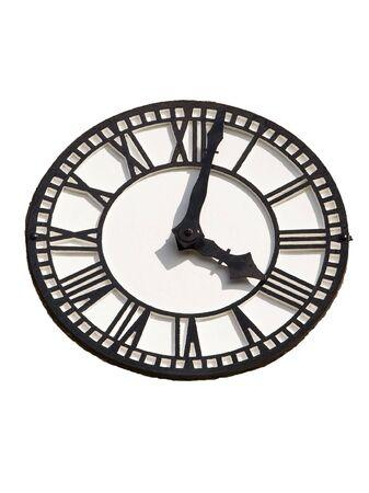 numeros romanos: un reloj en blanco y negro con n�meros romanos en un fondo blanco
