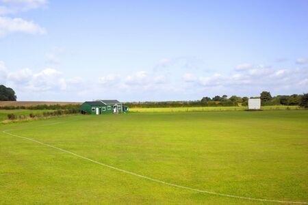 pavillion: a rural cricket pavillion in england in summer