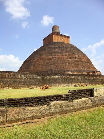 anuradhapura: sacred stupa on an ancient site at anuradhapura sri lanka