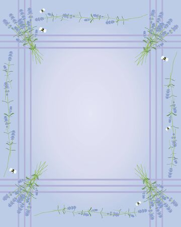 stationery border: an illustration of a lavender flower border ideal for gift tags stationery and greetings cards Illustration