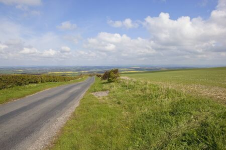 a view across the yorkshire wolds in springtime  photo