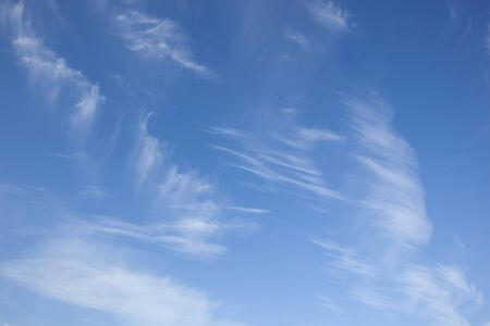 wispy: natural background with wispy cirrus clouds in a blue sky