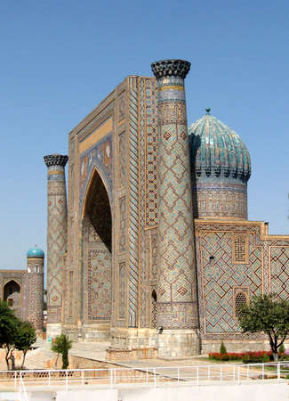 Registan, Sher-Dor Madrasah, Samarkand, Uzbekistan, Historic buildings