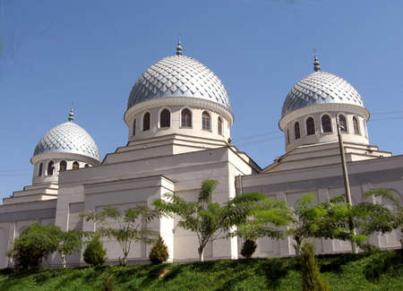Cupolas of Juma Mosque in Tashkent, Uzbekistan  Stock Photo