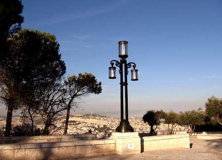 Lantern in Haas Promenade,Jerusalem,Israel photo