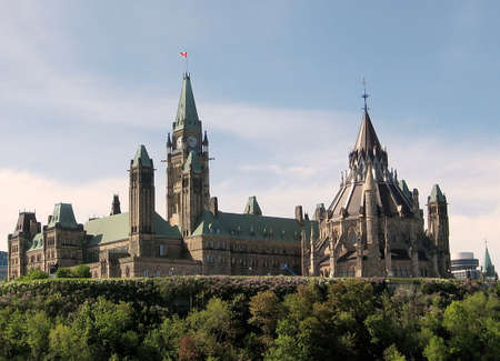 Buildings of Canadian Parliament in Ottawa, Canada