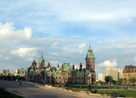 West Block of Canadian Parliament in Ottawa, Canada Stock Photo