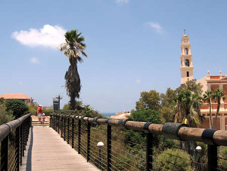Bridge of desires near St. Peters Church in old city Jaffa, Israel